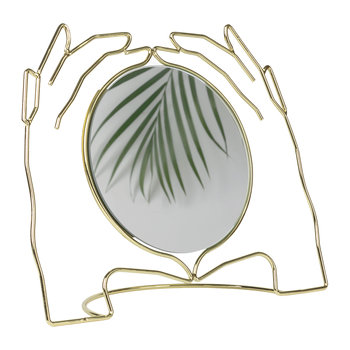 Xeria Hands Mirror - Gold