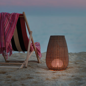 Amphora Rattan Floor Light - Beige