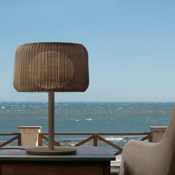 Fora Rattan Table Lamp - Brown