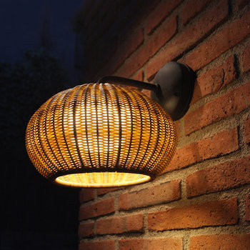 Garota Rattan Wall Light - Brown