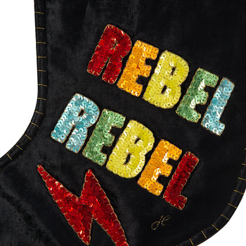 Rainbow Sequin Rebel Rebel Stocking