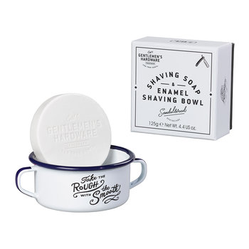 Shaving Soap & Enamel Shaving Bowl Set - White