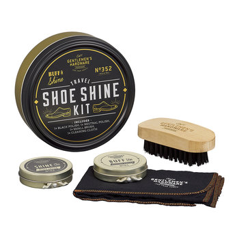 Travel Shoe Shine Tin - Black