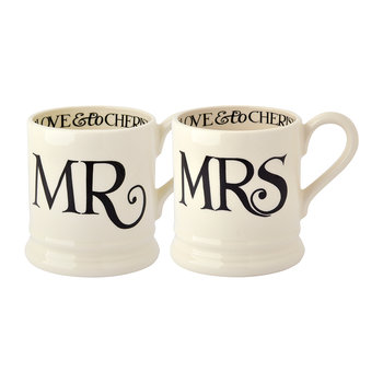 Mugs Mr & Mrs Toast Noir