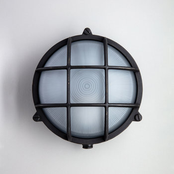 Round Bulkhead Outdoor Wall Light - Bronze