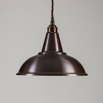 Factory Pendant Ceiling Light - Antique Brass