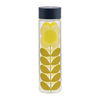 Glass Water Bottle - Daisy Stem - 525ml
