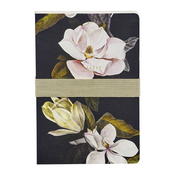 A5 Notebook with Sticky Notes - Black Opal