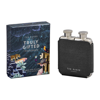 Ted's World Double Hip Flask - Navy