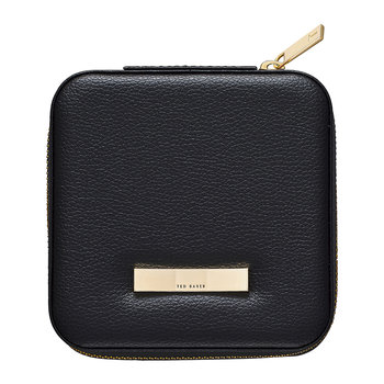 Zipped Jewellery Travel Case - Black