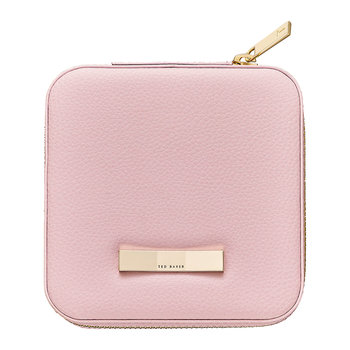 Zipped Jewelry Travel Case - Pink