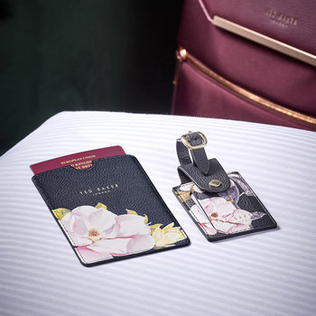 Passport Holder & Luggage Tag Travel Set - Black Opal