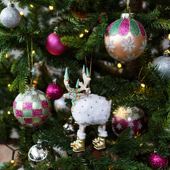 Patience Brewster Moonbeam Blitzen Tree Decoration