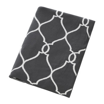 Diamond Print Throw - Grey