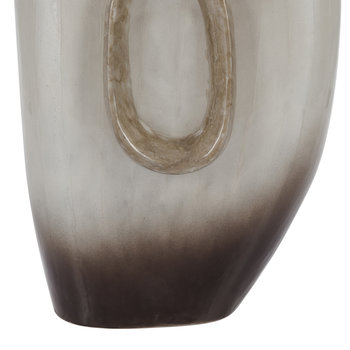 Ombre Silver Oval Vase