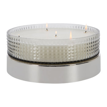 Diamond Cut Glass Candle