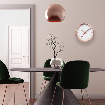 Classic Metal Wall Clock - Pure Copper
