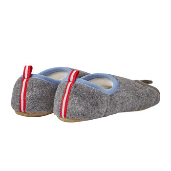 JNR Slippet Felt Slip On Slipper - Grey Bear