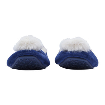Pombury Ballet Slipper With Pom Pom - Navy