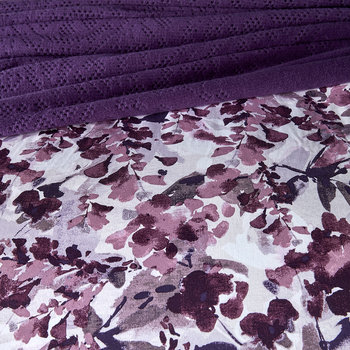 Hannah Quilt Cover - Blackberry