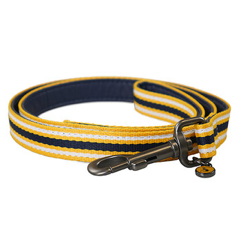 Coastal Stripe Dog Lead - Navy