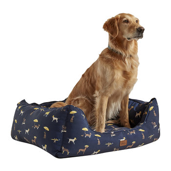 Dog Print Box Dog Bed