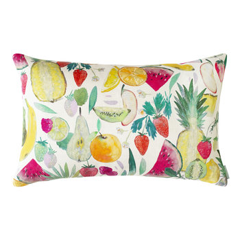 Tutti Frutti Cushion - Natural - 60x40cm