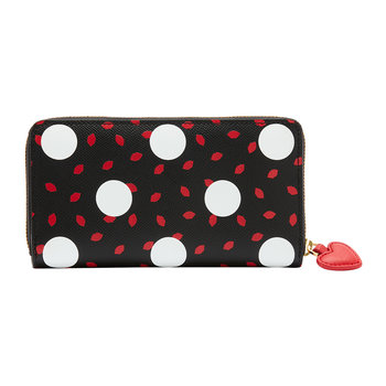 Polka Dot Lips Continental Wallet