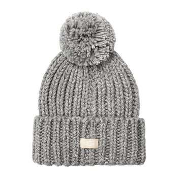 Women's Chunky Wide Cuff Beanie - Light Grey