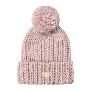 Women's Chunky Wide Cuff Beanie - Pink Crystal