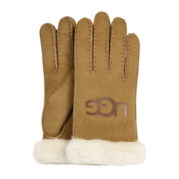 Women's Sheepskin Logo Glove - Chestnut