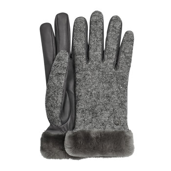Women's Shorty Fabric & Leather Glove - Charcoal