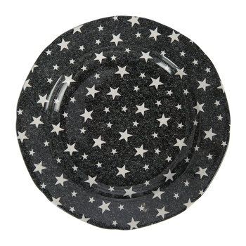 Midnight Sky Salad Plate - Black