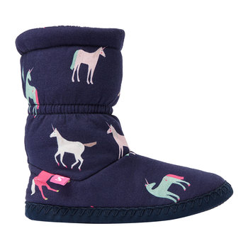 JNR Padabout Slipper Sock - Navy Unicorn