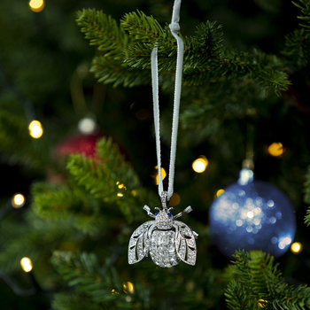 Sparkle Bee Christmas Tree Decoration - Crystal