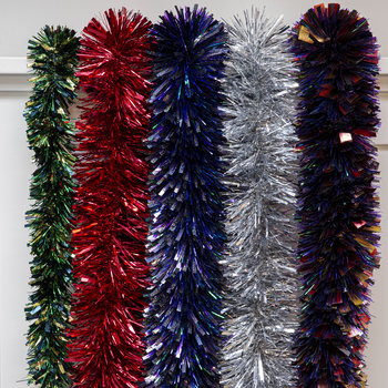 Luxury Chunky Cut Tinsel - Red