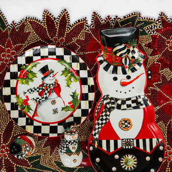 Top Hat Snowman Cookie Plate