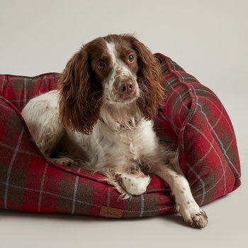 Heritage Tweed Box Dog Bed
