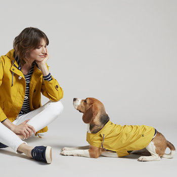 Water Resistant Dog Coat - Mustard