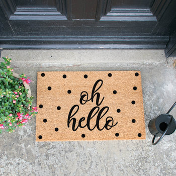 Oh Hello Door Mat