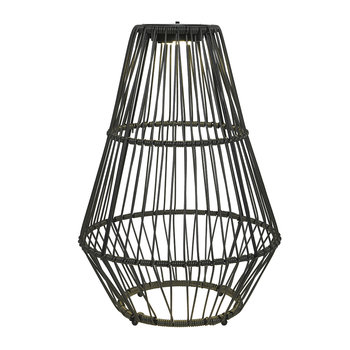 Outdoor Rope Floor Lantern - Grey