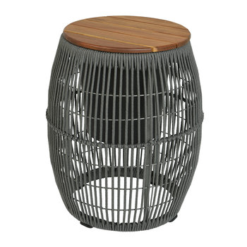 Outdoor Rope Weave Side Table - Grey