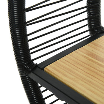 Outdoor Wicker Circular Shelf - Black