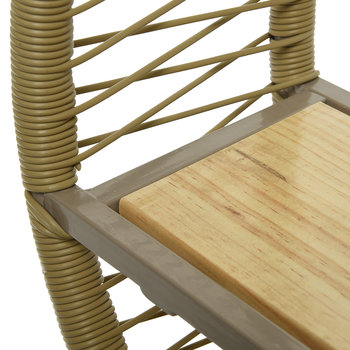 Outdoor Wicker Circular Shelf - Taupe
