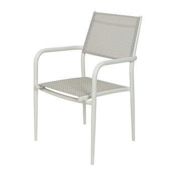 Outdoor Zigzag Dining Chair - White