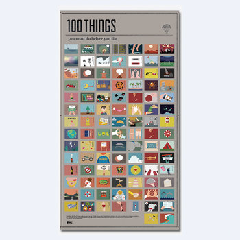 100 Must-Do Poster - 100 Things