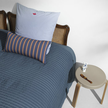 Slumber Bedspread - Fading Stripes Dark Blue