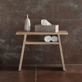 Mink Bath Bench - Oak
