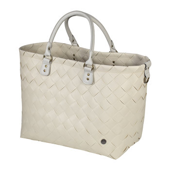 Saint-Tropez Travel Bag with PU Handles - Sand