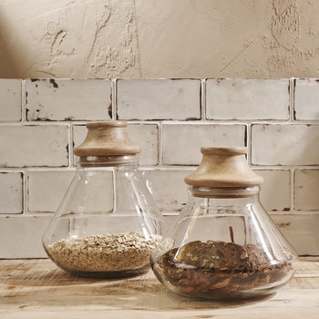 Deeka Storage Jar - Clear